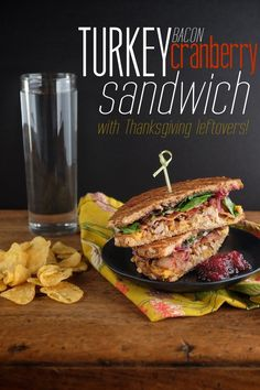 Turn your Thanksgiving leftovers into an amazing sandwich! Check out this Turkey Bacon Cranberry Sandwich!