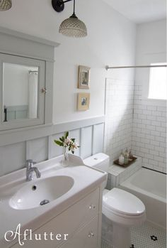 1920s+bathroom+sloped+ceiling