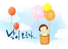 korean children& ;s illustrator psd material