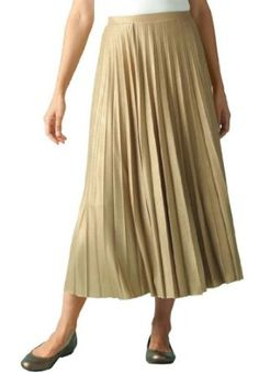 Woman Within Plus Size Skirt In Dazzling Metallic Knit (Gold,2X) Woman Within. $19.88