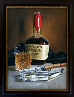 """MICHAEL NAPLES  """"Portrait of Henry"""" oil on 1/4"""" board  18x24"""" (note: I LOVE this notion of a portrait; doing a still life of items that represent the individual!)"""