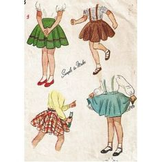 "The circular skirt is attached smoothly at the waist and falling to form a complete circle at the hemline. ""Simplicity 1120 Sewing Pattern Circular Skirt with or without Strapes, Girls Size 4, Vintage 1940s [Unknown Binding]."" Simplicity 1120 Sewing Pattern Circular Skirt with or without Strapes, Girls Size 4, Vintage 1940s: Simplicity Co: Amazon.com: Books. N.p., n.d. Web. 29 Mar. 2013. ."