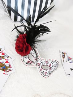 Queen of Hearts Masquerade Ball Mask Alice in Wonderland £125.00