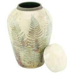 Fern Raku Cremation Urn   Ceramic Urns & Raku Urns