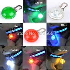 The LED collar light features a durable stainless steel carabiner clip and easily replaceable batteries. (A friend has a different color for each of his two dogs. With one on glow and one on flash mode, he always knows who's who at the dog park. Pet Dogs, Dog Cat, Pendant Lighting, Light Pendant, Pet Boutique, Buy A Cat, Led, Cool Pets, Pet Collars