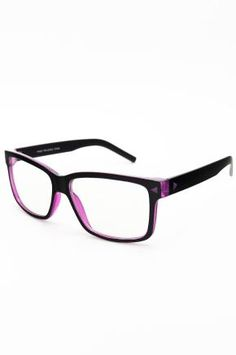 $10 FREE SHIP - Magenta Nerd Glasses for men or women FREE SHIP