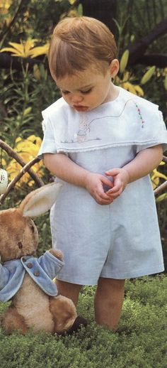 Creations By Michie` Peter Rabbit from CN-Nov/Dec featured in Little Boy Blue, Cute Little Baby, Little Babies, Baby Love, Baby Boy Outfits, Kids Outfits, Peter Rabbit Party, One Clothing, Heirloom Sewing