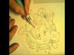 ▶ Coloring Skin with Derwent Inktense - YouTube