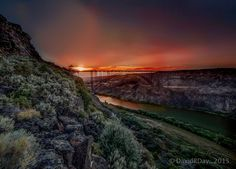 Spent some time in Twin Falls yesterday. Wind picked up so I wasn't able to fly and get the harvest pics I wanted. However I hiked part way down the north canyon just before heading home and found this! The sunset was stunning, I did pump it it up just a touch. Whatta ya think FaceBook? Photo ~ David R. Day.