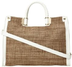 Amazon.com: Ivanka Trump Rose IT1198 Shoulder Bag,White,One Size: Shoes Designer Totes, Ivanka Trump, Burlap, Reusable Tote Bags, Shoulder Bag, Handbags, Amazon, Rose, Totes