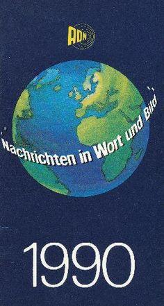 """DDR Museum - Museum: Objektdatenbank - Kalender """"Allgemeiner Deutscher Nachrichtendienst"""" 1990    Copyright: DDR Museum, Berlin. Eine kommerzielle Nutzung des Bildes ist nicht erlaubt, but feel free to repin it!"""