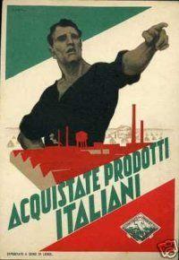 Manifesto che pubblicizza la politica protezionistica del Fascismo