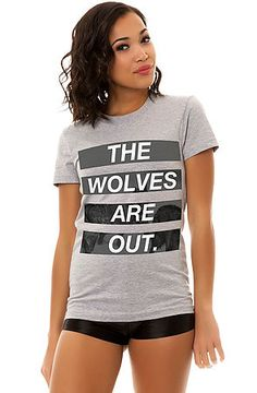 Kill Brand The Wolves Are Out Tee in Heather Grey