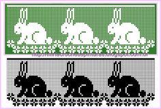 Great for cross stitch or filet crochet Filet Crochet Charts, Crochet Borders, Crochet Cross, Knitting Charts, Crochet Stitches, Knitting Patterns, Cross Stitch Borders, Cross Stitch Animals, Cross Stitching