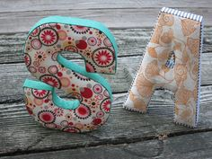 DIY No Sew Fabric Letters