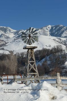 I found this windmill in Richmond Ut. Cache Co. Farm Windmill, Wind Machine, Water Wheels, Wind Mills, Go Around, Old Barns, Le Moulin, Abandoned Houses, Tis The Season