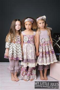 Mustard Pie Clothing Road Trip Isabella Bustle Dress Lavender Spring 2014