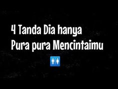 4 Tanda dia Pura pura Mencintaimu ( pria / wanita ) - YouTube Hurt Quotes, Love Quotes, Inspirational Quotes, Quotes Romantis, Jodoh Quotes, Cinta Quotes, Quotes Galau, Broken Heart Quotes, Islamic Quotes