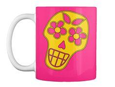 Dia De Los Muertos Hot Pink Mug
