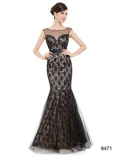 エレガントです フィッシュテールのブラック系ロングドレス - ロングドレス・パーティードレスはGN|演奏会や結婚式に大活躍!