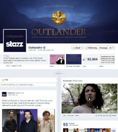 The official Outlander - Starz facebook page