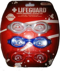 4a6a6188f2 Lifeguard Youth Swimming Goggle Set of Three   Details can be found by  clicking on the image.Note It is affiliate link to Amazon.