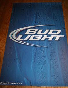 "Rare BUD LIGHT BEER BIG POSTER 35"" x 58"" Enjoy Responsibly 2012 Anheuser-Busch"
