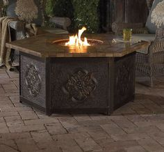 Warm your outdoor conversation area with flickering firelight from our Sovana Custom Fire Table.