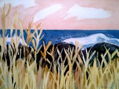 Marilyn Blinkhorn Maine Artist contemporary landscape seascape painting - and want another floral print!