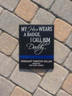 Your place to buy and sell all things handmade Police Officer Crafts, Police Sign, Police Quotes, Dad Quotes, Police Family, Police Party, Blue Line Police, Gifts For Office, Daddy Gifts