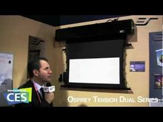 @Elite Screens Live from #CES 2012 - #Ospreytension #DualSeries