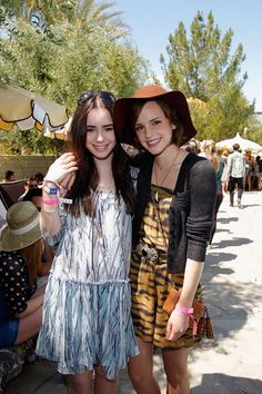 Lilly Collins and Emma Watson