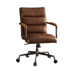 Acme Furniture Harith Office Chair, Retro Brown Leather