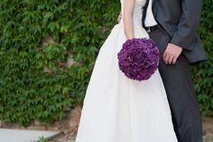 Purple Hydrangea Bride's *venue* by Blue Bouquet, via Flickr