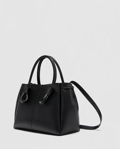 Image 4 of MIDI TOTE BAG WITH KNOTTED DETAIL from Zara
