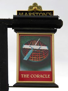 Coracle sign, Shrewsbury