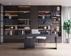 Minotti Work Room on Behance Modern Home Interior Design, Modern Office Design, Office Furniture Design, Workspace Design, Home Office Space, Home Office Decor, Office Ideas, Study Room Design, Luxury Office