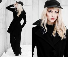 Get this look: http://lb.nu/look/8029624  More looks by Ebba Zingmark: http://lb.nu/ebbaz  Items in this look:  Golfstrom Coat, Nike Cap, Monki Pants, Sarenza Shoes   #chic #edgy #street