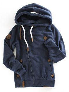 Naketano Family Biz VIII Asymmetrical Zip Hoodie | Navy Blue Sweatshirt | casual jacket for Fall and Winter | therollinj.com