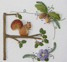 Squirrel in a Tree by flossbox, via Flickr