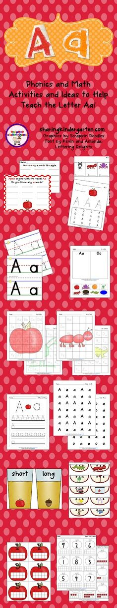 Letter Aa activities and printables, all in one place... check link for multiple Aa freebies