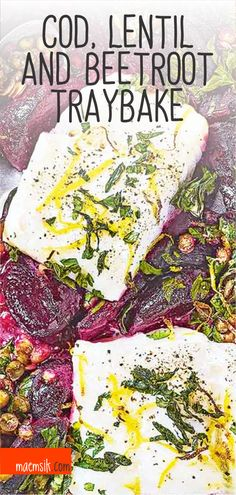 Cod, Lentil And Beetroot Traybake Recipe Cod Recipes, Quick Recipes, Vegan Recipes Easy, Healthy Dinner Recipes, Traybake Dinner, Fish Supper, Tray Bake Recipes, One Pan Dinner, Beetroot