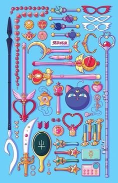 Magical Arsenal Special Edition By Paulina Ganucheau - Sailor Moon Weapons Ps This Is Not Mine Arte Sailor Moon, Sailor Moon Fan Art, Sailor Moon Character, Sailor Moon Crystal, Sailor Pluto, Sailor Moon Manga, Animes Wallpapers, Cute Wallpapers, Sailor Moon Weapons