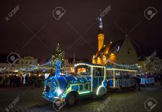 TALLINN, ESTONIA - DECEMBER 24: People Visit Christmas Fair In.. Stock Photo, Picture And Royalty Free Image. Image 50974893.