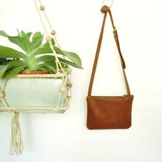 Sylvie shoulder bag in super soft tan leather.