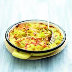 Gratins de poireaux au curry