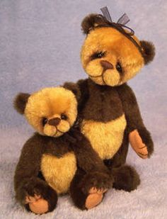 Ross and Raleigh Mini bears by By April Dawn Anderson   Bear Pile