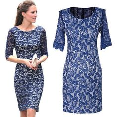 Oclothing New Fashion British Princess Kate Office Ladies Dress for Women Elegant Evening Dresses Lace Vintage Party Bottoming Dress
