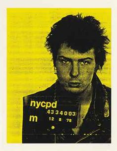 Sid Vicious, from Mugshot Series by Russell Young.