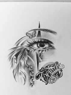 Drawing oeil plume catrina - Sister and Brother Pencil Art Drawings, Art Drawings Sketches, Tattoo Sketches, Tattoo Drawings, Badass Tattoos, Body Art Tattoos, Sleeve Tattoos, Rauch Tattoo, Temporary Tattoo Designs